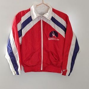 Vtg 1980s Gymnastics Olympica Lined Windbreaker